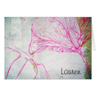 Cartão para Lauren