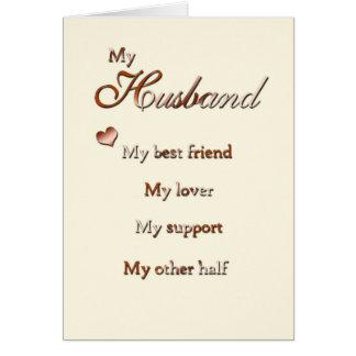 Cartão Para meu Huband (aniversário)