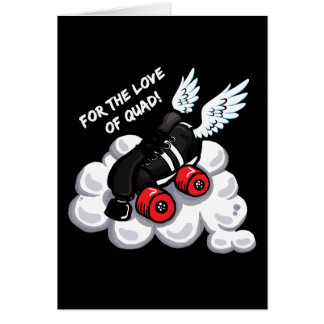 Cartão Para o amor do quadrilátero