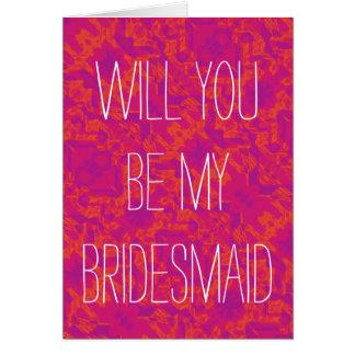 Cartão Para o amor dos casamentos - seja minha dama de