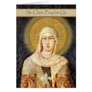 Cartão para o dia de banquete de St. Clare,