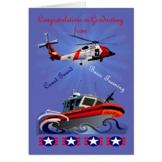 Cartão para o formando da guarda costeira