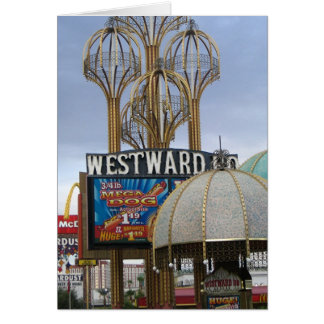 Cartão para o oeste ho - cão mega - Las Vegas