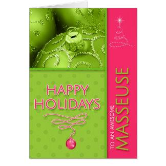 Cartão para o rosa quente e o verde limão do Natal do