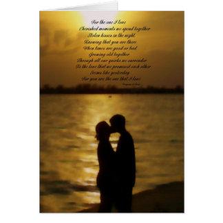 Cartão Para o um amor de I