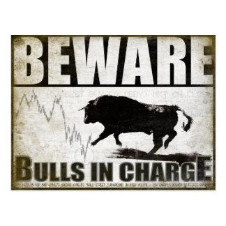 Cartão para os accionistas do mercado em alta