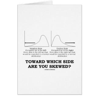 Cartão Para que lado você é enviesado?