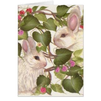 Cartão Para sempre coelhos