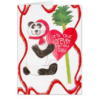 Cartão Para sempre dia da família - China