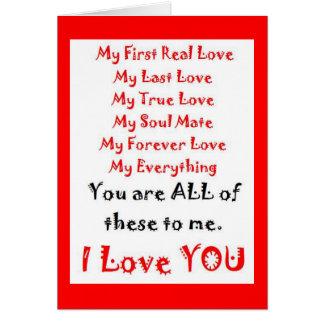 Cartão Para sempre poema do amor