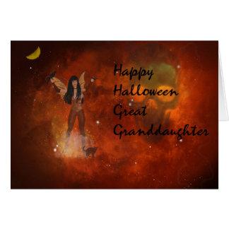 Cartão para seu excelente - neta do Dia das Bruxas