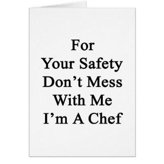 Cartão Para sua segurança não suje comigo que eu sou um
