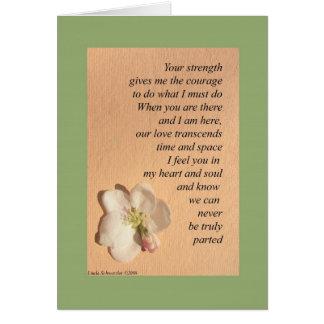 Cartão Para suas uma milha amadas afastado