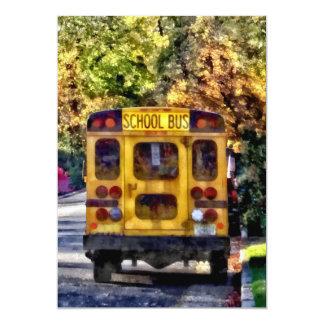 Cartão Para trás do auto escolar