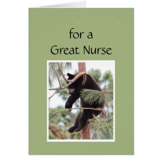 Cartão Para uma grande enfermeira recorde relaxar o dia