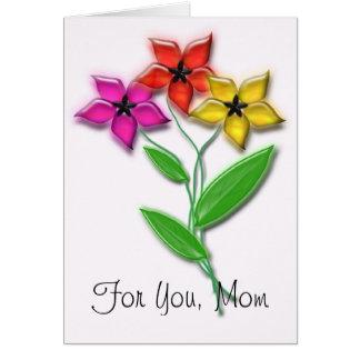 Cartão Para você, mamã