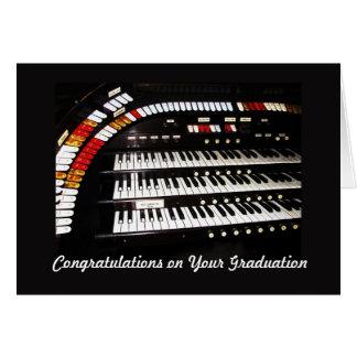 Cartão Parabéns antigos do órgão na graduação