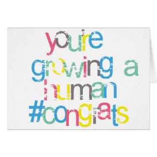 Cartão Parabéns brilhantes você está grávido