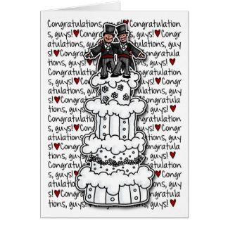 Cartão Parabéns - casal alegre do casamento