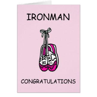 Cartão Parabéns da fêmea de Ironman