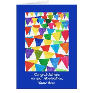 Cartão Parabéns da graduação da estamenha para algum nome