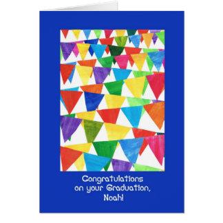 Cartão Parabéns da graduação da estamenha para Noah