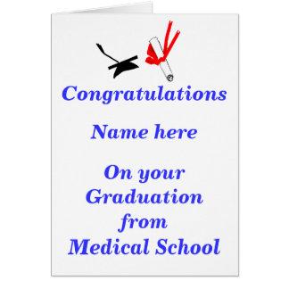Cartão Parabéns da graduação da Faculdade de Medicina