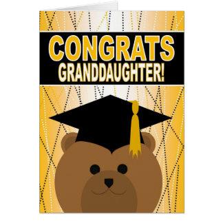 Cartão Parabéns da graduação para a neta