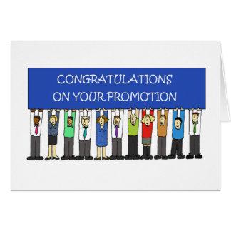 Cartão Parabéns da promoção