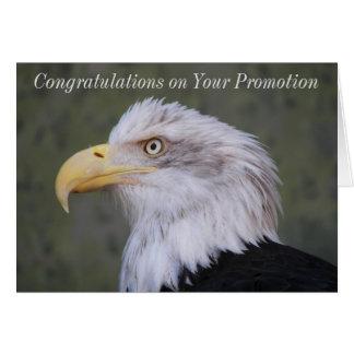Cartão Parabéns da promoção da foto da águia americana
