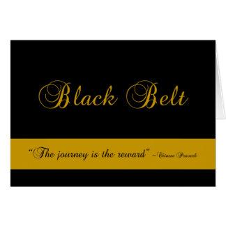 Cartão Parabéns da viagem do cinturão negro das artes