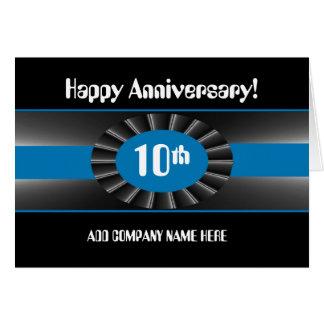 Cartão Parabéns do aniversário do negócio 10ns - fita