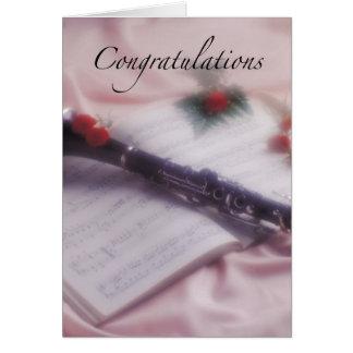 Cartão Parabéns do clarinete