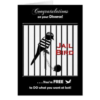 Cartão Parabéns do divórcio