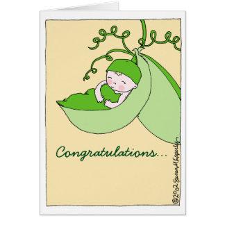 Cartão Parabéns doces no chá de fraldas da gravidez