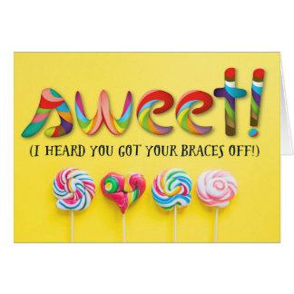 Cartão Parabéns doces - você obteve suas cintas fora!