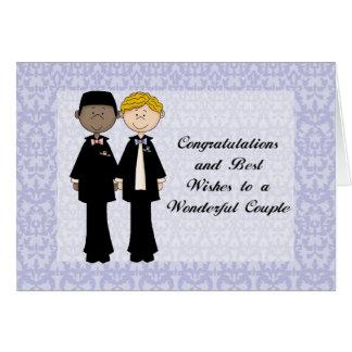 Cartão Parabéns e cumprimentos C Wedding masculino alegre