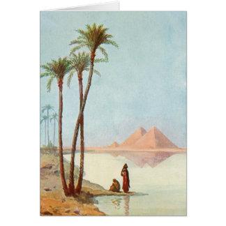Cartão Parabéns egípcios Egipto das pirâmides