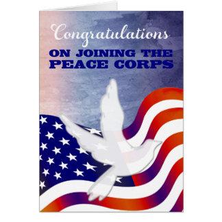 Cartão Parabéns em juntar-se o corpo de paz
