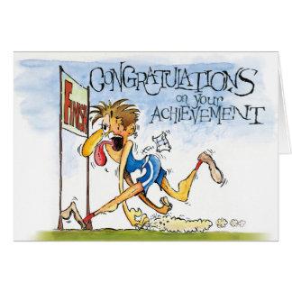 Cartão Parabéns em nossa realização