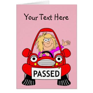 Cartão Parabéns em passar seu teste de condução