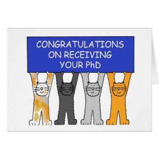 Cartão Parabéns em receber seu PhD.
