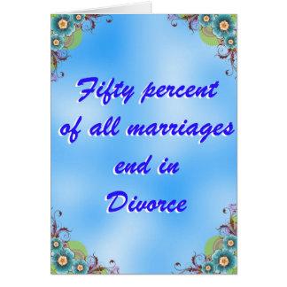 Cartão parabéns em seu divórcio