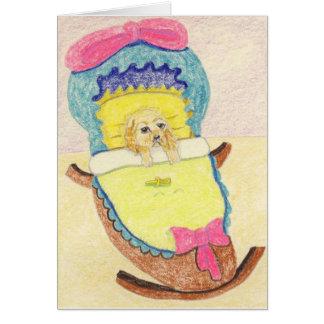 Cartão Parabéns em seu filhote de cachorro novo
