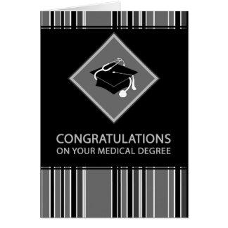 Cartão parabéns em seu grau médico: listrado