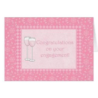 Cartão Parabéns em seu noivado
