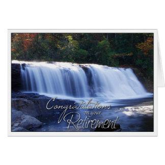 Cartão Parabéns em seu PIC da cachoeira da aposentadoria