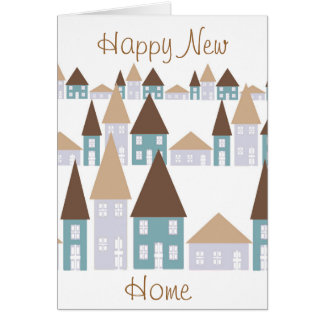 Cartão Parabéns em sua casa nova