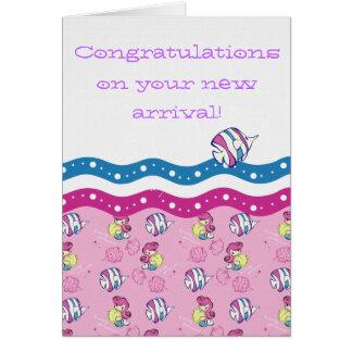 Cartão Parabéns em sua chegada nova!