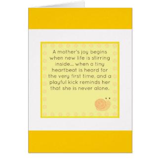 Cartão Parabéns em sua gravidez
